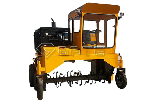 Wheel type compost turner machinery for fertilizer