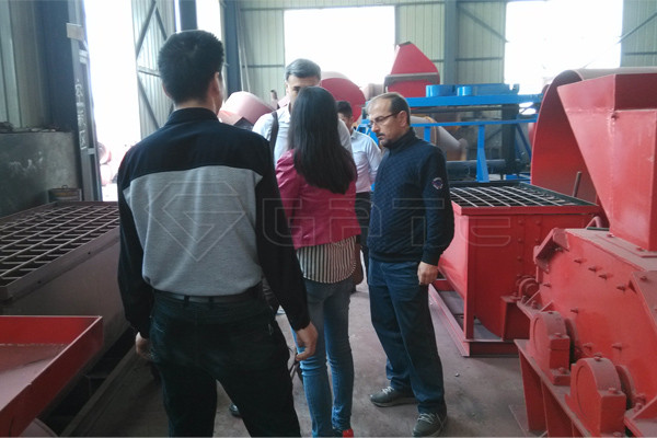 Turkey Customer Visit and order 8-10 tph NPk Fertilizer Rotary Drum Granulator