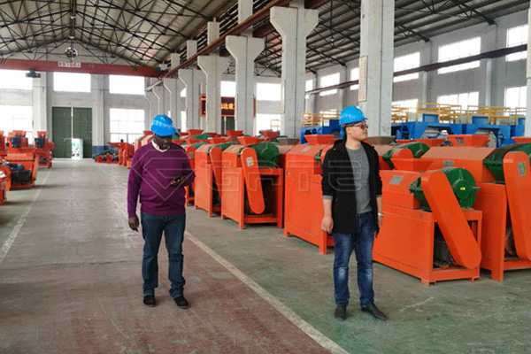 Zambia Customer Order NPK Fertilizer Double Roller Granulator