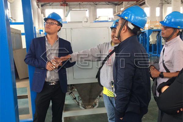 Tanzanian customers visit organic fertilizer granulator