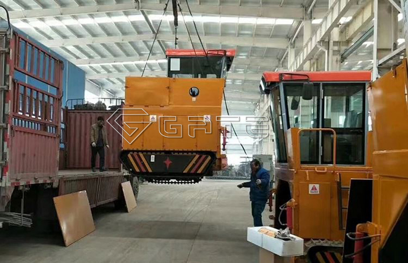 GATE Cow dung compost fertilizer turner machine shipped for Malaysia's customer