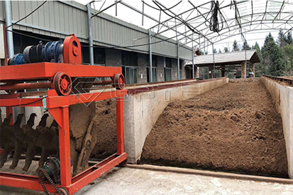 Groove type fertilizer compost turner machine for sale