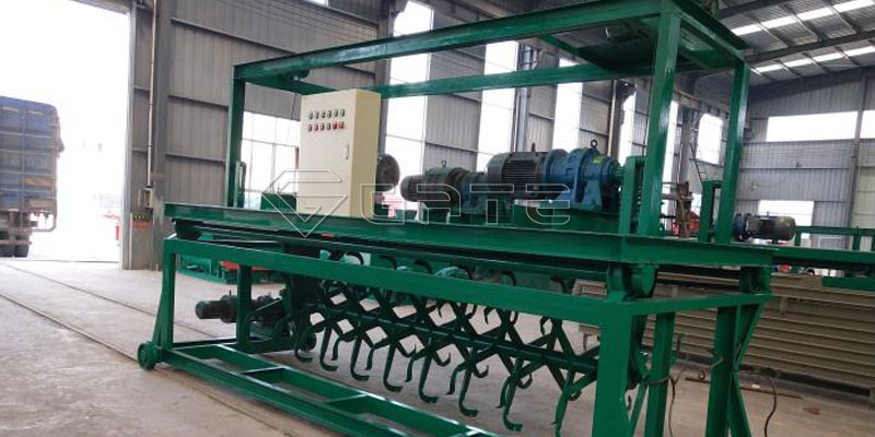 The groove type compost turner machine for organic fertilizer
