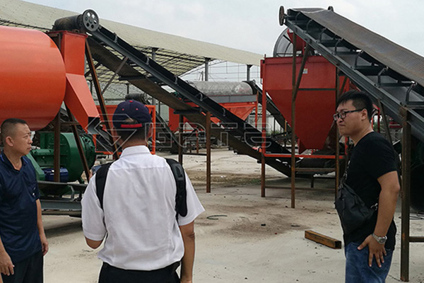 What needs to be done to build a new organic fertilizer production line?