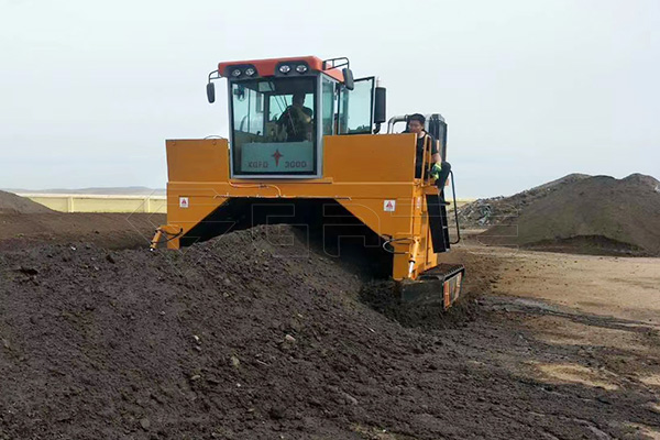 What role does the track composter play in production?