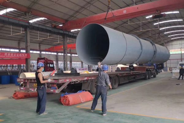 Drum granulation fertilizer machine purchased by Canadian customers will be shipped